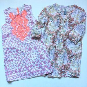 Pair/Lot of Girls 5T Boho Dresses